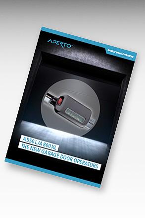 APERTO A550L A800XL garageportöppnare/garageportautomatik